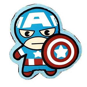 Almofada Capitão América Vingadores 30cm - Marvel Oficial - Zona Criativa - 1 Un - Rizzo