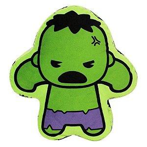 Almofada Hulk Vingadores 30cm - Marvel Oficial - Zona Criativa - 1 Un - Rizzo