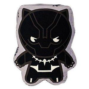 Almofada Pantera Negra Vingadores 30cm - Marvel Oficial - Zona Criativa - 1 Un - Rizzo