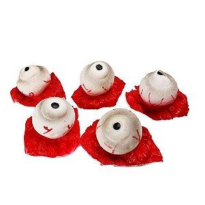Enfeite Decorativo - Olhos de plástico com sangue - Halloween - 05 unidades - Rizzo