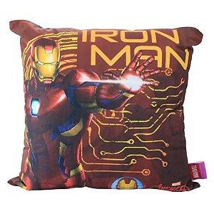 Almofada Homem de Ferro 40cm - Marvel Oficial - Zona Criativa - 1 Un - Rizzo