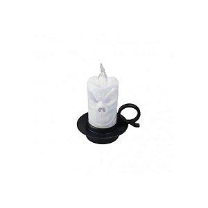 Enfeite Decorativo - Mini Vela Caveira - Branco - Halloween - 01 unidade - Rizzo