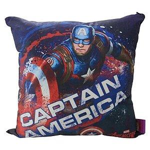 Almofada Capitão América 40cm - Marvel Oficial - Zona Criativa - 1 Un - Rizzo