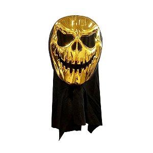 Máscara Luxo - Halloween - Abóbora com Capuz - Dourada - 01 unidade - Rizzo