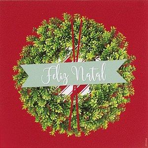Guardanapo de Papel Feliz Natal Guirlanda 32,5cm - 20 folhas - Cromus Natal - Rizzo
