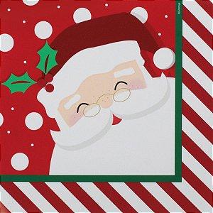 Guardanapo de Papel Papai Noel Listrado 32,5cm - 20 folhas - Cromus Natal - Rizzo