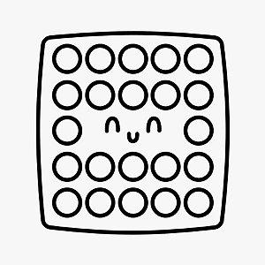 Transfer Para Balão Silhueta - Pop It Fidget Toy! mod.2 - 01 Unidade - Rizzo Embalagens