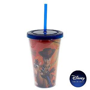 Copo C/ Canudo Toy Story - 500ml - Disney Original - 01 Un - Rizzo