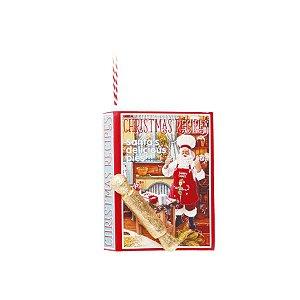 Enfeite para Pendurar Livro de Receitas Natal - 01 unidade - Cromus Natal - Rizzo