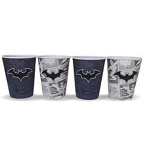 Kit 4 Copos 3D Batman Liga da Justiça - 400ml - DC Original - 01 Un - Rizzo