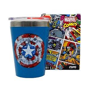 Copo c/ Tampa Capitão América Vingadores - 300ml - Marvel Original - 01 Un - Rizzo