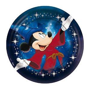 Prato de Papel  Festa Mickey Fantasia - 12 Unidades - Regina - Rizzo Embalagens