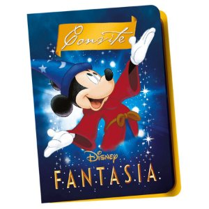 Convite Festa Mickey Fantasia - 12 Unidades - Regina - Rizzo Embalagens
