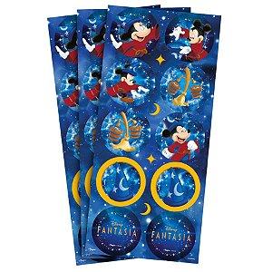 Adesivo Redondo Decorativo Festa Mickey Fantasia - 30 unidades - Regina - Rizzo Embalagens