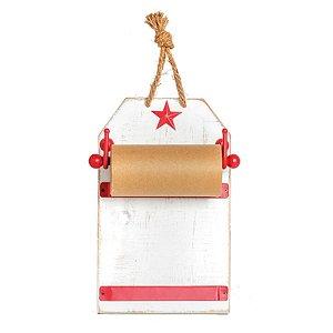 Quadro Bloco de Notas - Trend Chef - Branco/Vermelho - 01 unidade - Cromus - Rizzo