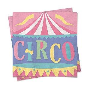 Guardanapo de Papel Festa Circo Rosa 24,5cm - 20 folhas - Cromus - Rizzo Embalagens