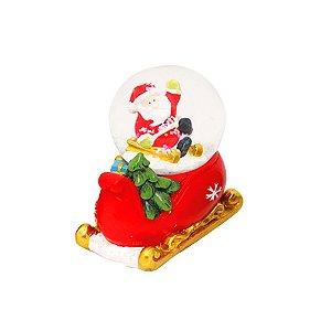Mini Globo de Vidro Natal - Noel no Trenó - Vermelho - 01unidade - Cromus Natal - Rizzo
