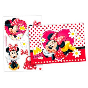 Kit Decorativo Festa Minnie Red - 8pçs - 01 unidades - Regina - Rizzo Embalagens