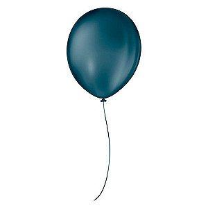 Balão de Festa Látex Liso - Azul Petróleo - 50 Unidades - São Roque