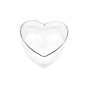 Caixa Acrílica Coração G - Transparente - 14cm x 14cm x 4,5cm - 01 unidade - Rizzo