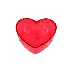 Caixa Acrílica Coração G - Vermelha - 14cm x 14cm x 4,5cm - 01 unidade - Rizzo