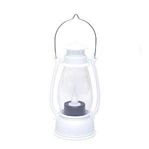 Lamparina Decorativa Branca com Led - 01 unidade - Cromus Natal - Rizzo