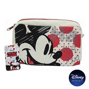 Necessaire Tecido Mickey Mouse - Disney Original - 01 Un - Rizzo