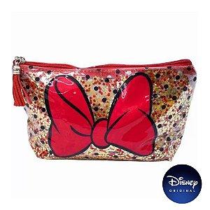 Necessaire Transparente Laço Minnie Mouse - Disney Original - 01 Un - Rizzo