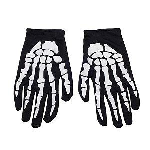 Luva Esqueleto Halloween - 01 Unidade - Cromus - Rizzo Embalagens