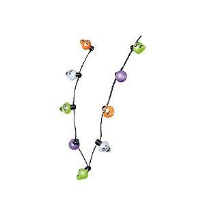 Colar de Led Caveira com Luz Halloween - 01 Unidade - Cromus - Rizzo Embalagens