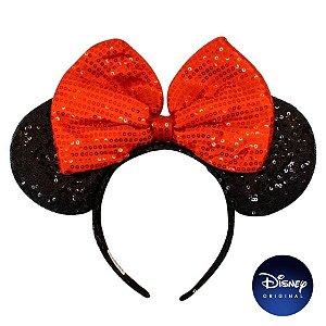 Tiara Lantejoula Orelhinha Minnie Mouse - Disney Original - 1 Un - Rizzo