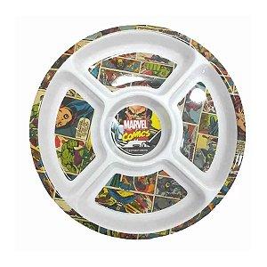 Petisqueira Redonda Classic Marvel - 30cm - Marvel Original - 1 Un - Rizzo
