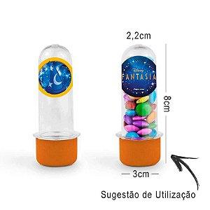 Mini Tubete Lembrancinha Festa Mickey Fantasia 8cm 20 unidades - Laranja - Rizzo Embalagens