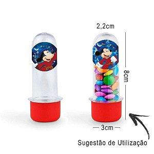 Mini Tubete Lembrancinha Festa Mickey Fantasia 8cm 20 unidades - Vermelho - Rizzo Embalagens