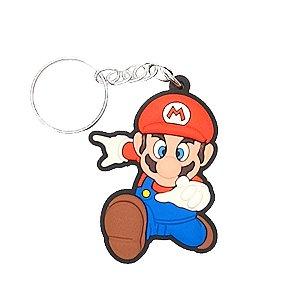 Chaveiro Mário World Temático Emborrachado - 01 unidade - Rizzo Embalagens