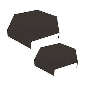 Suporte Para Doces Acrílico Fume Hexagonal Pequeno e Grande - 2 Unidades - Rizzo Embalagens