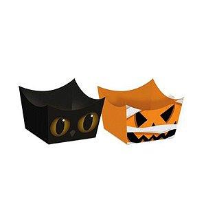 Forminha Para Doces Cachepot Noite do Terror Halloween 24 Unidades - Cromus - Rizzo Embalagens