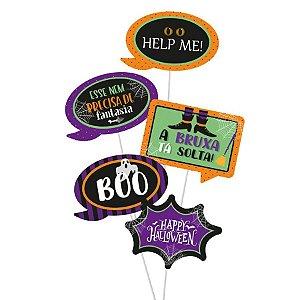 Plaquinhas Divertidas Noite do Terror Halloween 8 Unidades - Cromus - Rizzo Embalagens