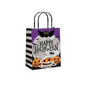 Sacola Papel Noite do Terror Halloween P 21,5x15x8 - 10 Unidades - Cromus - Rizzo Embalagens