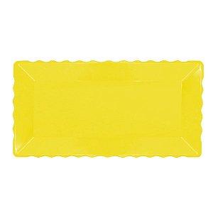 Bandeja Retangular Plástico Amarela - 16x30cm - 1 Un - Rizzo