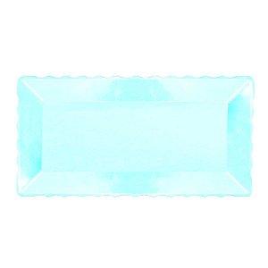 Bandeja Retangular Plástico Azul Bebe - 16x30cm - 1 Un - Rizzo