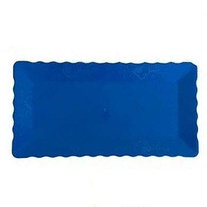 Bandeja Retangular Plástico Liso Azul Escuro - 16x30cm - 1 Un - Rizzo