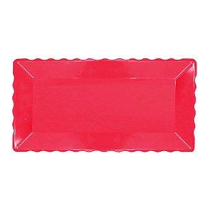 Bandeja Retangular Plástico Liso Pink - 16x30cm - 1 Un - Rizzo