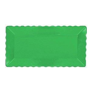 Bandeja Retangular Plástico Liso Verde - 16x30cm - 1 Un - Rizzo