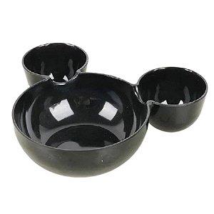 Petisqueira Preto Mickey Minnie Mouse - 19cm - 1 Un - Rizzo