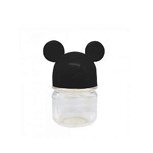Potinho Preto Transparente Mickey Minnie Mouse - 7cm - 6 Un - Rizzo