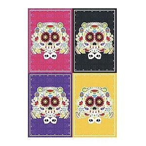 Painel 4 Laminas Festa Mexicana Dia Dos Mortos - 01 Unidade - Junco - Rizzo Embalagens
