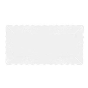 Bandeja Retangular Plástico Liso Cristal Transparente - 16x30cm - 1 Un - Rizzo