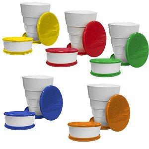 Kit Copo Sanfonado Retratil  - Sortido - 150ml - 06 unidades - Plast'Sandri - Rizzo Embalagens