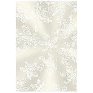 Saco Transparente Decorado - Folhas Brancas - 10x14cm - 50 unidades - Regina - Rizzo Embalagens